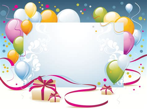 happy birthday present powerpoint templates border