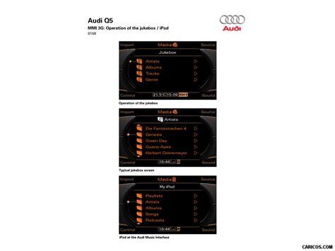 audi mmi jukebox audi q5 2009 mmi 3g operation of the jukebox ipod