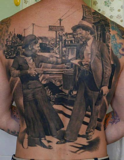 bonnie and clyde tattoos ideas back design bonnie and clyde ink