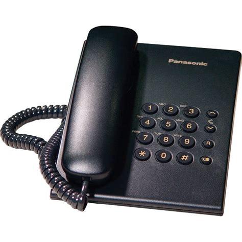 Panasonic Corded Phone Kxts505 panasonic kx ts500 black corded desktop phone onedirect