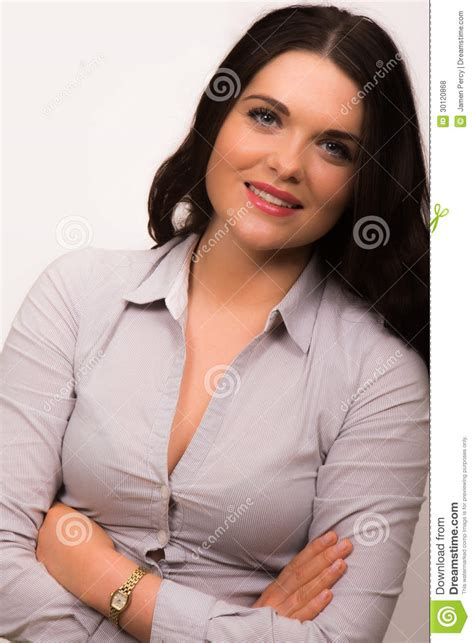high hairlines a firm of beauty in women beautiful young business women with arms folded royalty