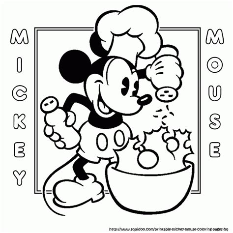 Free Coloring Pages For Mickey Mouse Az Coloring Pages - mickey mouse coloring pages bake az coloring home