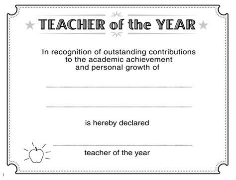 download teacher of the year certificate template wikidownload