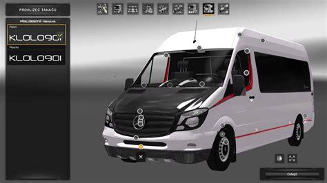 mercedes sprinter long  minibus skin pack   mod  ets