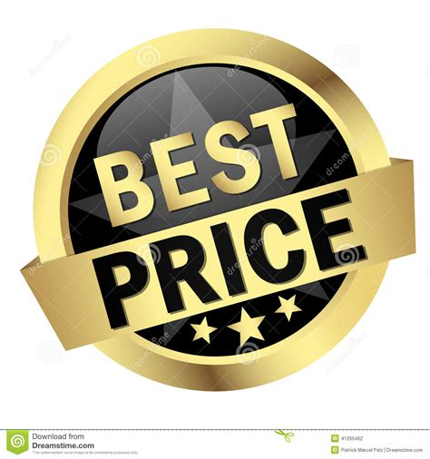 best price button with banner best price stock vector image 41265462