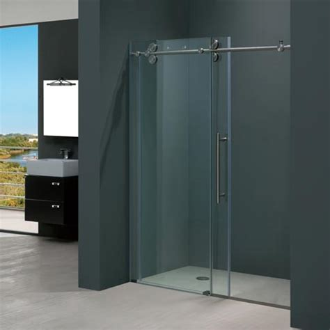 48 Inch Shower Door Vigo 48 Inch Frameless Shower Door 3 8 Quot Clear Stainless Steel Hardware Product