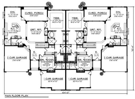 quadruplex floor plans duplex plan chp 32564 at coolhouseplans com duplex