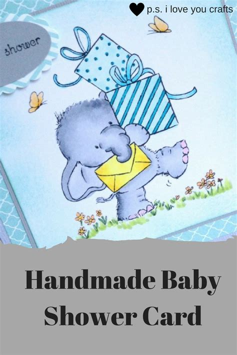 Handmade Baby Shower Cards - handmade baby shower card the inspiration vault