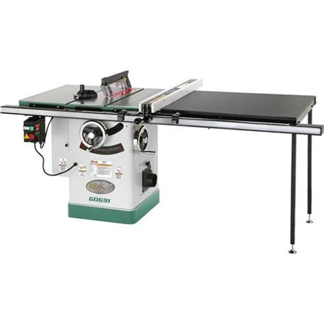 grizzly cabinet saw review 10 quot 3hp 220v cabinet table saw with rails riving