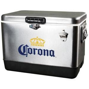 koolatron 54 qt stainless steel corona chest cooler