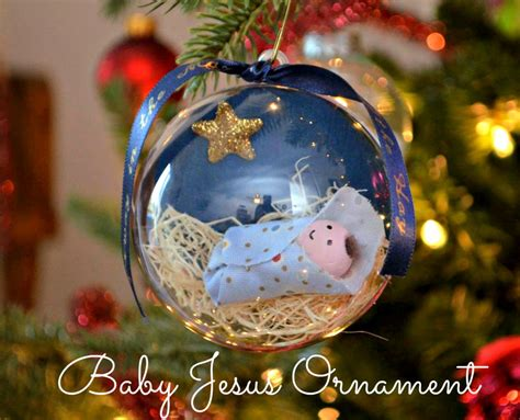 christmas ornaments to make with oreschool boy baby jesus ornament one artsy