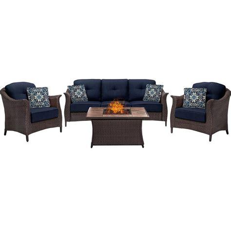 home depot pit set steel pit sets outdoor lounge furniture patio