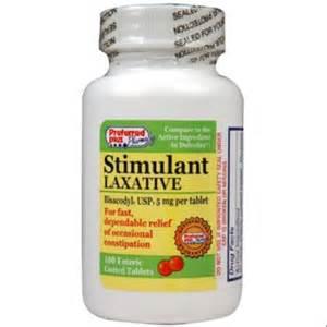 bisacodyl stimulant laxative 5 mg tablets 100 ea pack of