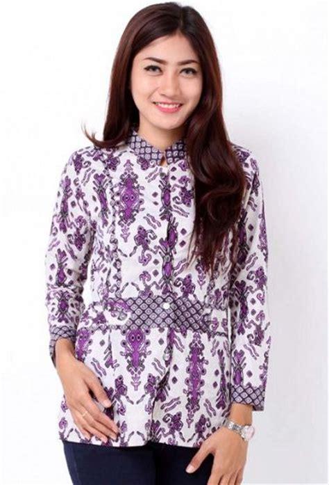 desain baju batik lengan panjang modern wanita muda 20 desain baju batik lengan panjang modern wanita muda