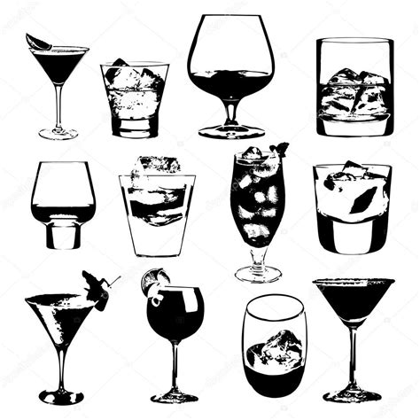 glasses vector whiskey glass silhouette www pixshark com images