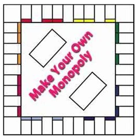 editable board template the homeschool voyager make your own monopoly