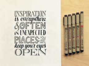 inspiration for inspiration lettering by seanwes