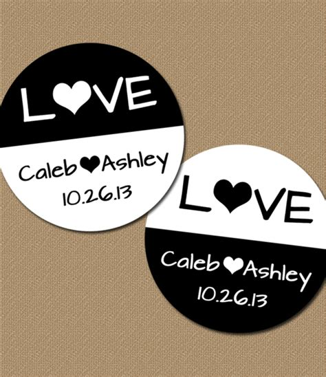 Personalized Stickers Wedding