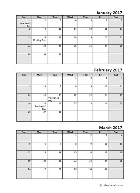 quarterly calendar  holidays  printable templates
