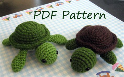 pattern crochet turtle turt the turtle amigurumi crochet pattern pdf