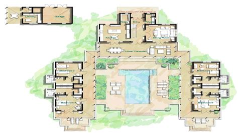 spanish hacienda floor plans with courtyards hacienda style home floor plans spanish style homes with