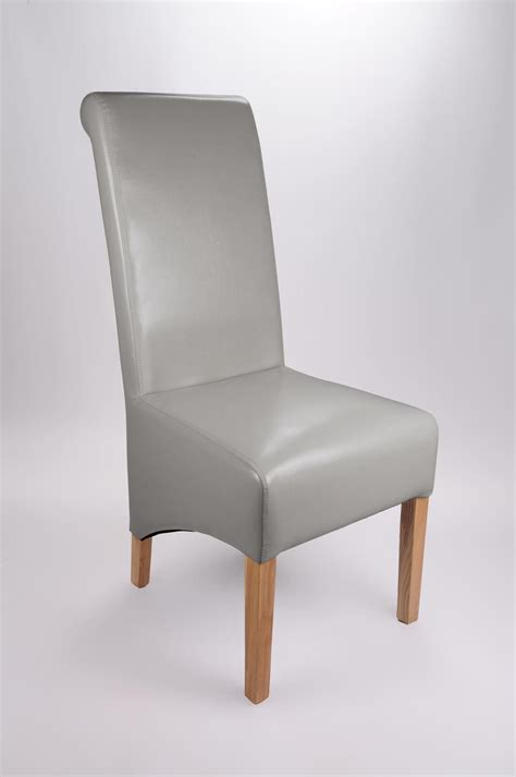 Gray Leather Dining Chair Krista Grey Leather Dining Chairs Shankar Krista Grey Leather