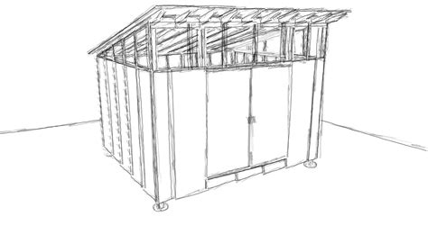 Shed Type Roof Design by Ecclesia Domestica Design For A Storage Shed
