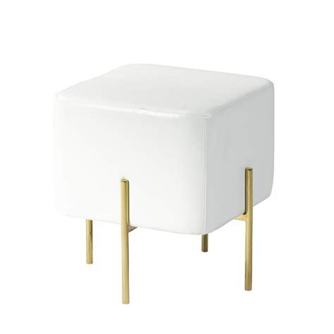 white and gold ottoman kube white leatherette gold ottoman s xcella