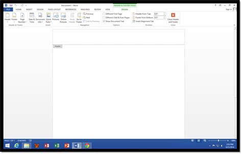 word print layout no header how to access the header area in microsoft word 2013