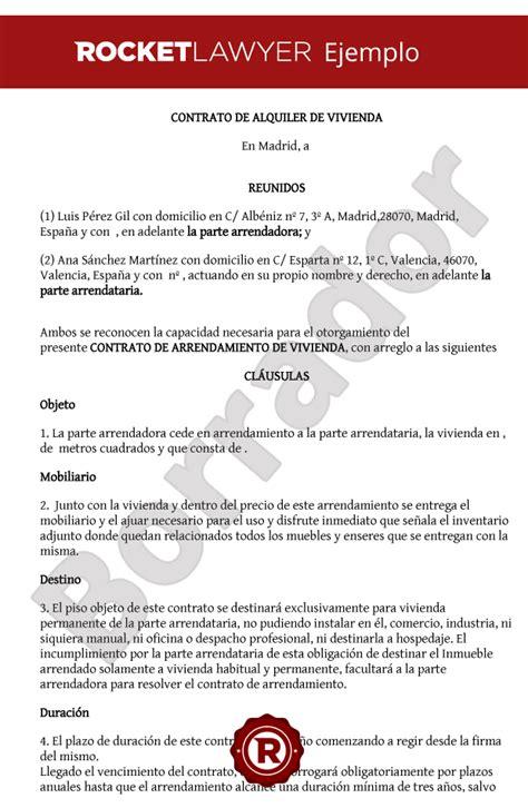 contrato alquiler vivienda 2015 word modelo de contrato de alquiler hipotecas y pisos contrato