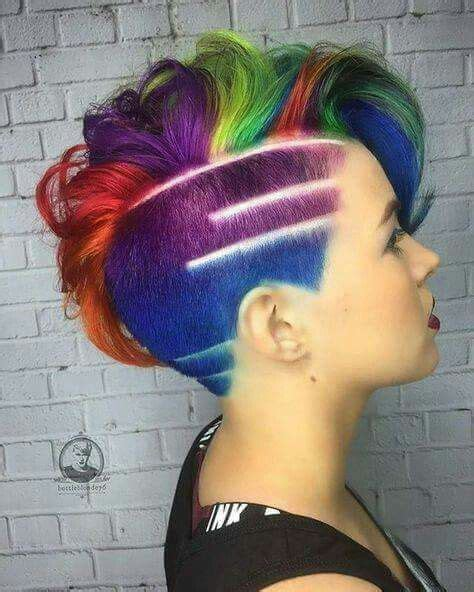 1000 images about coloured shaved and awesome hair on wie van jullie durft 10 gewaagde korte kapsels in felle