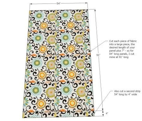 curtain sewing pattern easy panels drapes tab top ties ana white build a tab top curtains and a giveaway