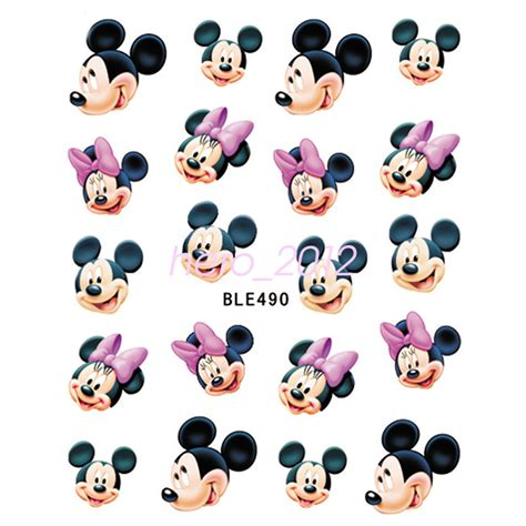 Sticker Stiker Label Pengiriman Disney Mickey Mouse Miki Tikus 11 sheets disney decals princess mickey mouse nail tips sticker decoration ebay