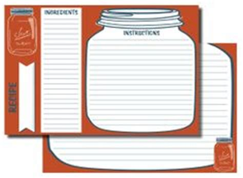 jar recipe card template 1000 images about to organize or not to organize