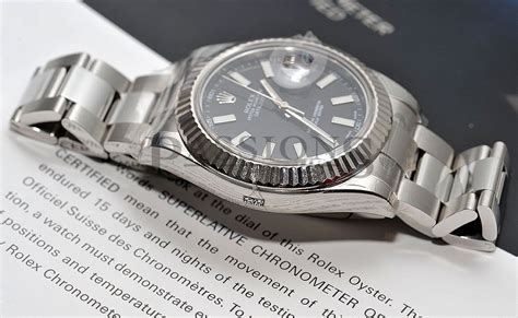 """Rolex, 41mm Oyster Perpetual """"Datejust II"""" in 18KWG & Steel   Passions Watch Exchange"""