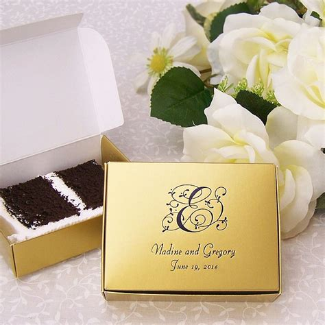 Wedding Cake Gift Boxes by 5 X 4 Custom Printed Cake Slice Favor Boxes Set Of 50