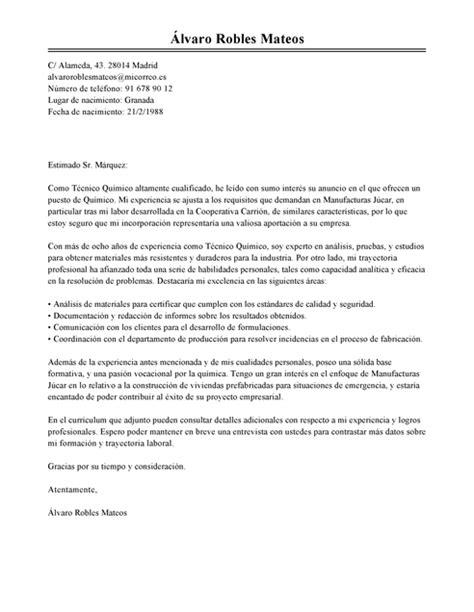 Modelo Curriculum Quimico Farmaceutico Modelo De Carta De Presentaci 243 N Qu 237 Mico Qu 237 Mico Ejemplo Livecareer