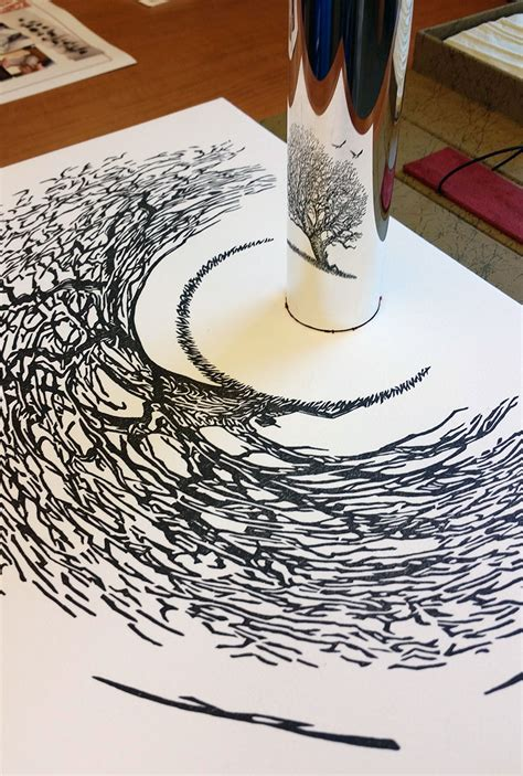 printable anamorphic art 23 stunning anamorphic artworks that can only be seen with