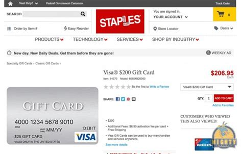 Gift Card Debit Visa - buy a visa debit 200 gift card with no shipping fees at staples mightytravels
