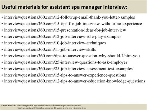 top 10 assistant spa manager questions and answers