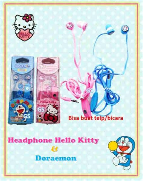 Earphone Hello Doraemon grosir terlengkap dan termurah headphone hello