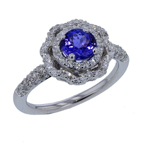 white gold and tanzanite ring ballard ballard