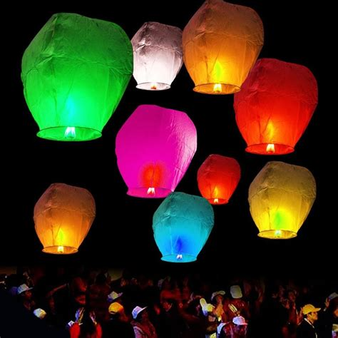 Paper Lanterns For Candles - x20 sky lanterns paper sky candle wish