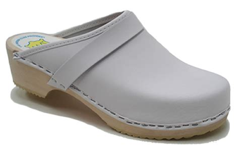 white clogs for am toffeln 100 wooden clog in white leather