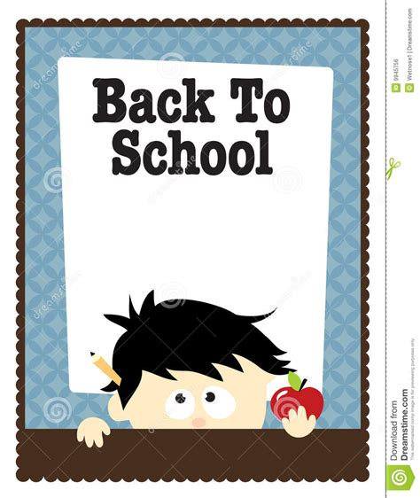 8 5x11 school flyer template stock vector illustration