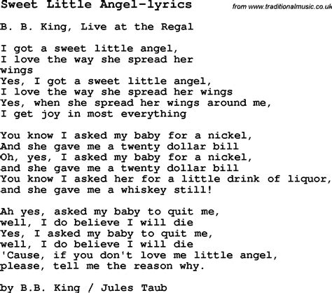 angle song blues guitar lesson for sweet little angel lyrics with