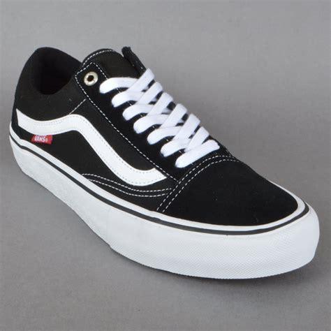Vans School Pro vans skool pro skate shoes black white vans from
