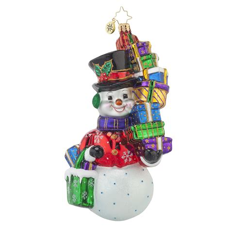 shop away snowman ornament by christopher radko