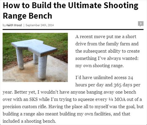 build your own shooting bench shooting bench 171 daily bulletin