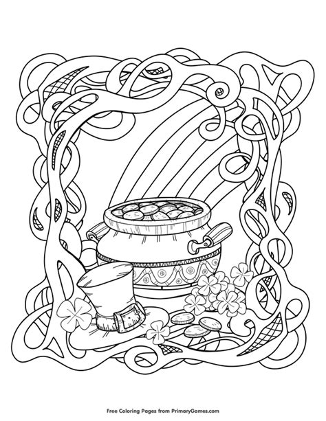 st patrick s day coloring pages ebook rainbow and pot of